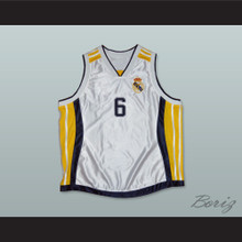 Sasha Djordjevic 6 Real Madrid Basketball Jersey