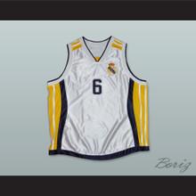 Sasha Djordjevic 6 Real Madrid Basketball Jersey