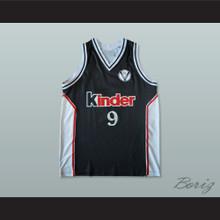 Salius Stombergas 9 Virtus Bolonia Basketball Jersey