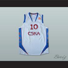 John Robert Holden 10 CSKA Moscow Basketball Jersey