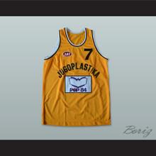 Toni Kukoc 7 Jugoplastika Split Basketball Jersey