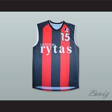 Robertas Javtokas 15 Lietuvos Rytas Basketball Jersey