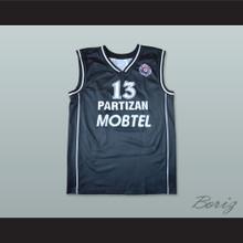 Milos Vujanic 13 KK Partizan Belgrade Basketball Jersey