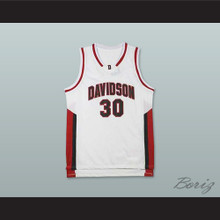 Stephen Curry 30 Davidson College Wildcats White Basketball Jersey