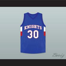 Stephen Curry 30 Charlotte Christian High School Knights Blue Basketball Jersey 2