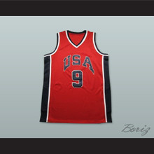 Michael Jordan 9 Team USA Red Basketball Jersey