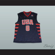 Kobe Bryant 8 Team USA Dark Blue Basketball Jersey