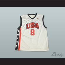 Kobe Bryant 8 Team USA White Basketball Jersey