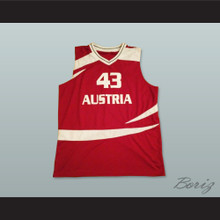 Austria 43 National Team Basketball Jersey