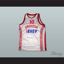 Croatia 10 National Team Basketball Jersey