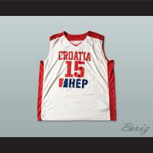 Croatia 15 National Team Basketball Jersey