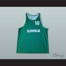 Slovenija 10 National Team Green Basketball Jersey