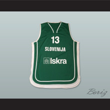 Slovenija 13 National Team Green Basketball Jersey