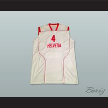 Switzerland Helvetia 4 National Team White Basketball Jersey