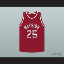 Saved By The Bell Zack Morris 25 Bayside Tigers Basketball Jersey Maroon