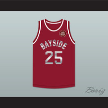 Saved By The Bell Zack Morris 25 Bayside Tigers Maroon Basketball Jersey Includes Tiger Patch