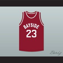 Saved By The Bell AC Slater 23 Bayside Tigers Basketball Jersey Away
