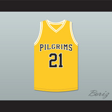 Rob Brown Jamal Wallace 21 Pilgrims Basketball Jersey Finding Forrester