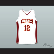 Damien Carter 12 Richmond Oilers Away Basketball Jersey Coach Carter