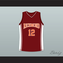 Damien Carter 12 Richmond Oilers Home Basketball Jersey Coach Carter