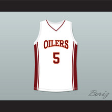 Jason Lyle 5 Richmond Oilers Away Basketball Jersey Coach Carter