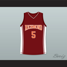 Jason Lyle 5 Richmond Oilers Home Basketball Jersey Coach Carter