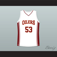 Nana Gbewonyo Junior Battle 53 Richmond Oilers Away Basketball Jersey Coach Carter
