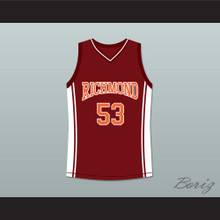 Junior Battle 53 Richmond Oilers Home Basketball Jersey Coach Carter