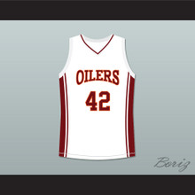 Kenyon Stone 42 Richmond Oilers Away Basketball Jersey Coach Carter