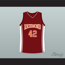 Rob Brown Kenyon Stone 42 Richmond Oilers Home Basketball Jersey Coach Carter