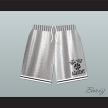 Bel-Air Academy Silver Basketball Shorts