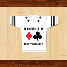Diamond Club NYC Underground Poker Room Football Jersey by Morrissey&Macallan