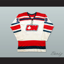 WHA 1972-73 Ottawa Nationals Brian Conacher 20 Home Hockey Jersey
