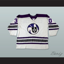 WHA 1972-73 Cleveland Crusaders Gerry Cheevers 30 Home Hockey Jersey