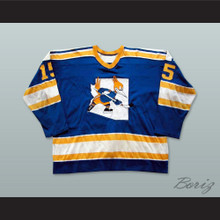 WHA 1975-76 Phoenix Roadrunners John Gray 15 Away Hockey Jersey