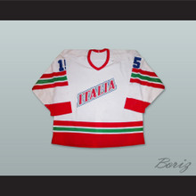 Italia 15 White Hockey Jersey