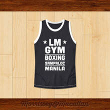 LM GYM Boxing Sampaloc Manila The Filipino Slugger Basketball Jersey by Morrissey&Macallan