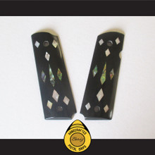 Boriz Handcrafted Pistol Grips 1911 Full Frame & Commander Inlay Stone Design 012