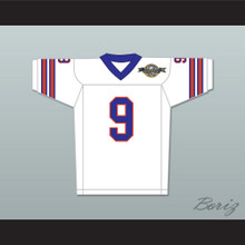 Bobby Boucher 9 Mud Dogs Away Football Jersey with Bourbon Bowl Patch