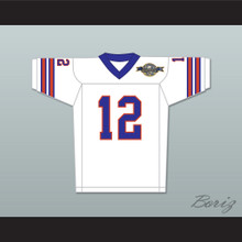 Gee Grenouille 12 Mud Dogs Away Football Jersey with Bourbon Bowl Patch