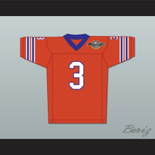 Derek Wallace 3 Mud Dogs Home Football Jersey with Bourbon Bowl Patch