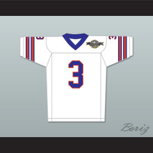 Derek Wallace 3 Mud Dogs Away Football Jersey with Bourbon Bowl Patch