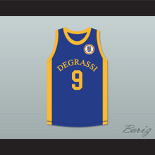 Drake Jimmy Brooks 9 Degrassi Community School Panthers Home Basketball Jersey with Patch