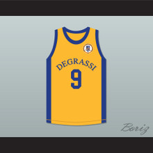 Drake 9 Degrassi Community School Panthers Away Basketball Jersey with Patch