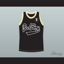 Notorious B.I.G. Biggie Smalls 72 Bad Boy Black Basketball Jersey with Patch