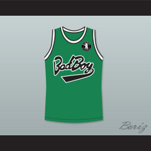 Notorious B.I.G. 97 Bad Boy Green Basketball Jersey with Patch