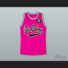 Biggie Smalls 10 Bad Boy Pink Basketball Jersey with Patch