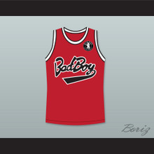 Biggie Smalls 10 Bad Boy Red Basketball Jersey with Patch