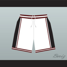 Panthers High School White Basketball Shorts Above The Rim