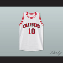 Arthur Agee 10 Chargers High School White Basketball Jersey Hoop Dreams